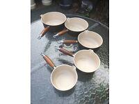 Set of 5 le cruset pans