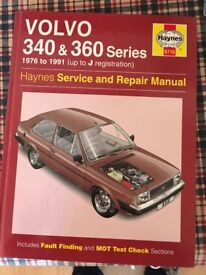 Workshop Manual for Volvo 340 and 360 Series