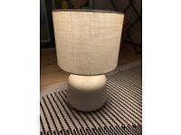 Dunelm white lamp