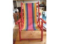 Childs deck chair