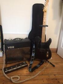 Fender telecaster + VOX amp + accessories