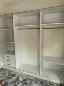 💥💯CLOSEOUT SALE 2 & 3 DOORS SLIDING WARDROBE WITH FULL MIRRORS ALL SHELVES & RAILS INCLUDED