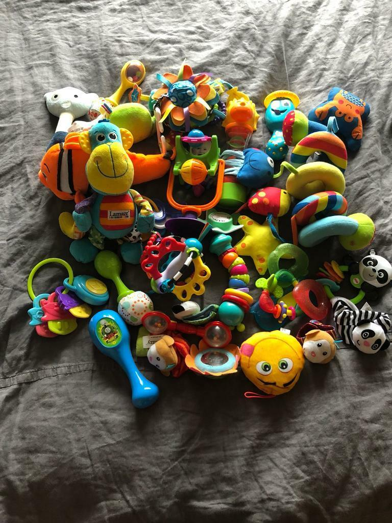 Big bundle of baby toys