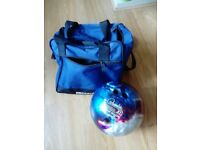Tenpin Bowling Ball and Bag