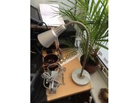 Ikea metal bendy directional desk lamp for sale in Cardiff.