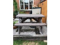 Heavy duty all weather picnic bench