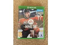 Xbox1 NHL 18 Ice Hockey from EA Sports excellent condition & great game play from the makers of fifa