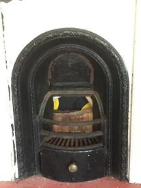 Antique fire with surround