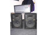 Fender Powered mixer and Yamaha S12e speakers