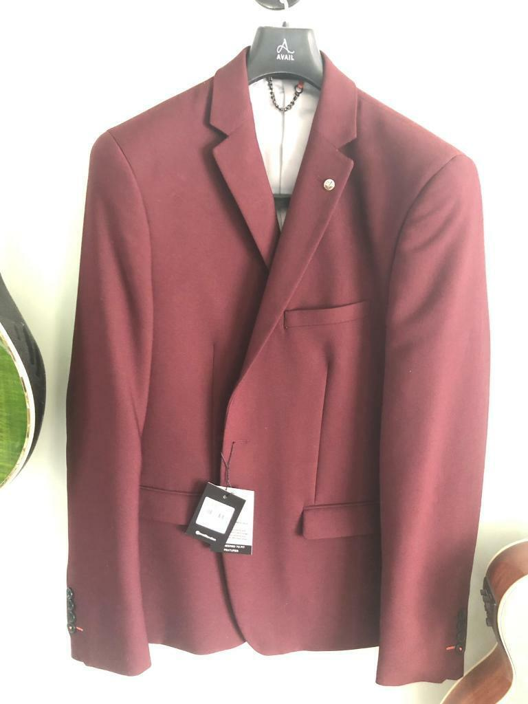 8ea68d0ffd55 Avail London Burgundy Slim Fit Suit | in Blaenavon, Torfaen | Gumtree