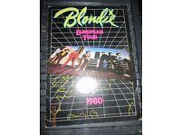 BLONDIE/ DEBBIE HARRY 1980 EUROPEAN TOUR PROGRAMME LOTS OF PICTURES good condition