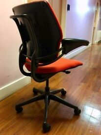 7 - HUMANSCALE FREEDOM CHAIRS IN ORANGE - WE CAN DELIVER - 5 YE GUARANTEE