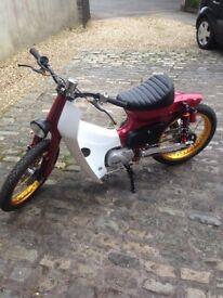 Honda c90 brat 1985 all new parts kep speed cost to build £2500 log book still 90cc show bike