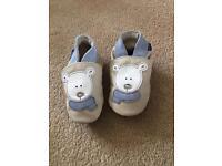 Leather pre walker shoes