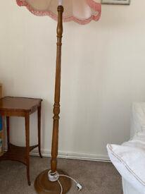 STANDARD LAMP WOODEN LATHE TURNED 1930 VGC