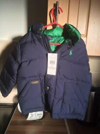 Ralph Lauren down jacket 2T BNWT
