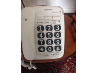 Telephone with large buttons