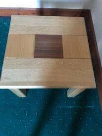 Solid wood corner table