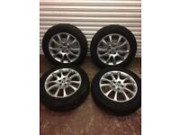 Set of 4 alloy wheels 18' with good tyres
