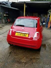 Fiat 500 1.2 l8tr 2014 low mileage for sale
