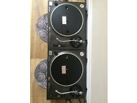 Technics 1210 mk 2 turntables. Good condition but only comes with one dust cover