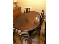 Kitchen/dining room table with 5 chairs
