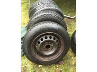 """13"""" steel wheels and tyres"""