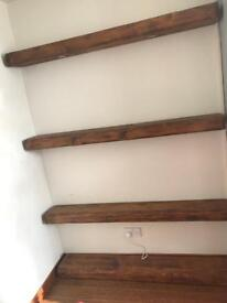 Old style beams with fitted spot lights indoor use PRICE REDUCED !