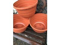 3 new planters with water retaining features.