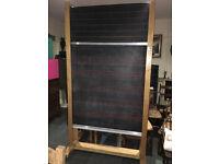 Marvellous Vintage School Revolving Double Sided Blackboard On Casters Chalk Advertising Café/Pub