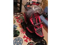 Phil and Teds e3 double buggy with lots of accessories