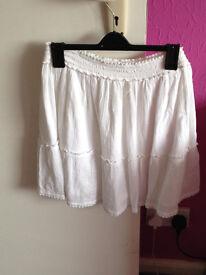 Lovely white summer skirt
