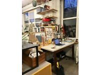 Lovely light studio desk space, E8