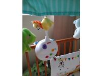 Fisher Price rainforest white noise cot mobile