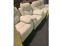 NEW fabric 3/1/1 recliner suite£950