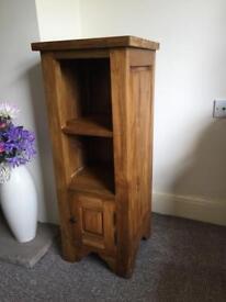 Wooden storage unit.