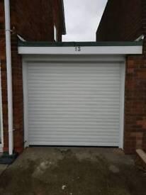 Insulated electric garage door