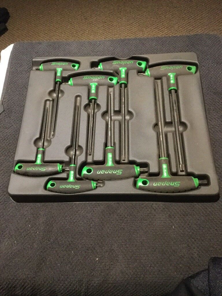 Snap on tbar torx driver set in tray