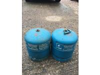 Gas bottles camping