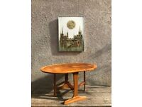 Vintage Retro Parker Knoll Teak Drop-leaf Occasional Coffee Table