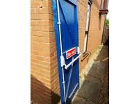 Emergency exit door handle and mechanism