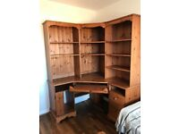 Corner Study Unit with Matching Chair & Wall Unit