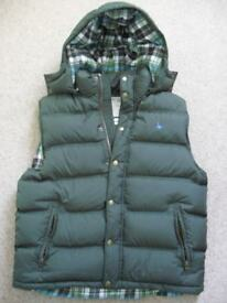 Jack Wills Mens Gilet in Green - XL (42 inch Chest)