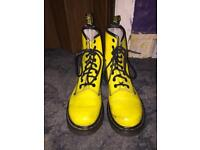 Yellow Vintage Dr Martens Size 5