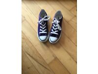 Converse All Star purple sneakers
