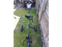 Spalding 3 wheel golf trolley