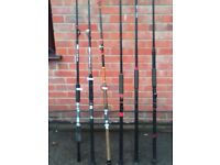 6 ASSORTED BOAT FISHING RODS CONOFLEX