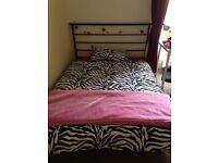 Double bedframe & mattress, desk, & chest of drawers - bundle £100 (or available individually)