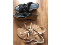 Ladies sandals uk5 two pairs