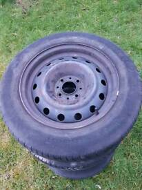Wheels and tyres good condition. 185/65